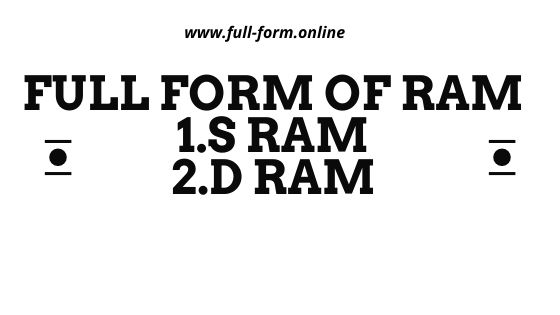 full form of ram | full form of sdram |ddr ram full form | sdram full form in computer | ddr sdram full form | full form of sdram in computer | ddr4 ram full form |  ddr2 ram full form