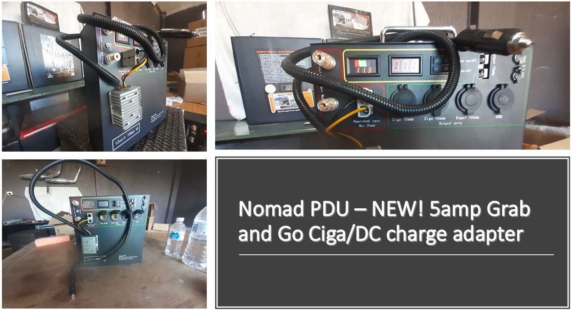 NEW - Portable 5amp Ciga/DC