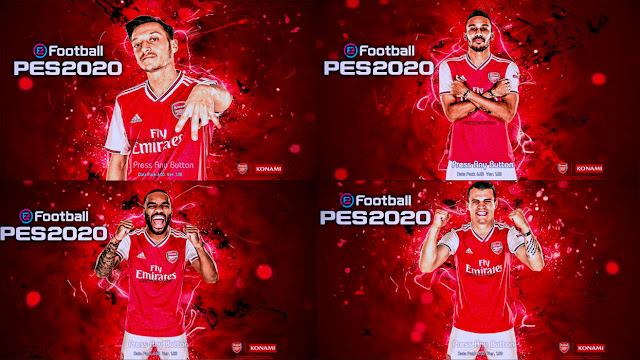 Start Screen Pack Arsenal F.C 2019 PES 2013