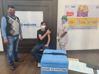 Vedanta's first COVID Vaccination held at its Jharsuguda Aluminium plant, Odisha