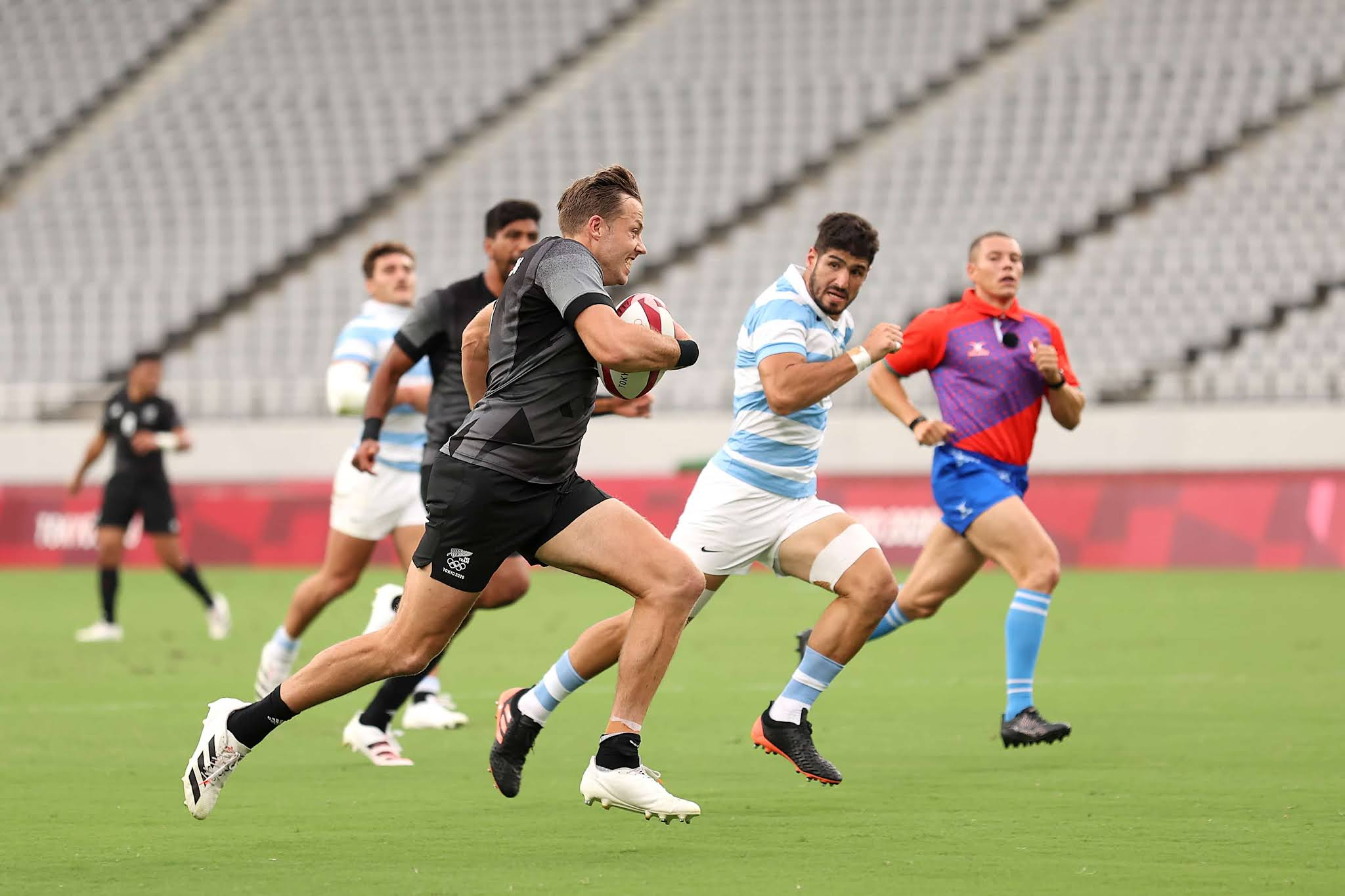 Los Pumas 7s no pudieron con la potencia de los hombres de Nueva Zelanda