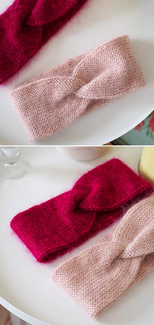 Classy Twist Headband - Free Knitting Pattern