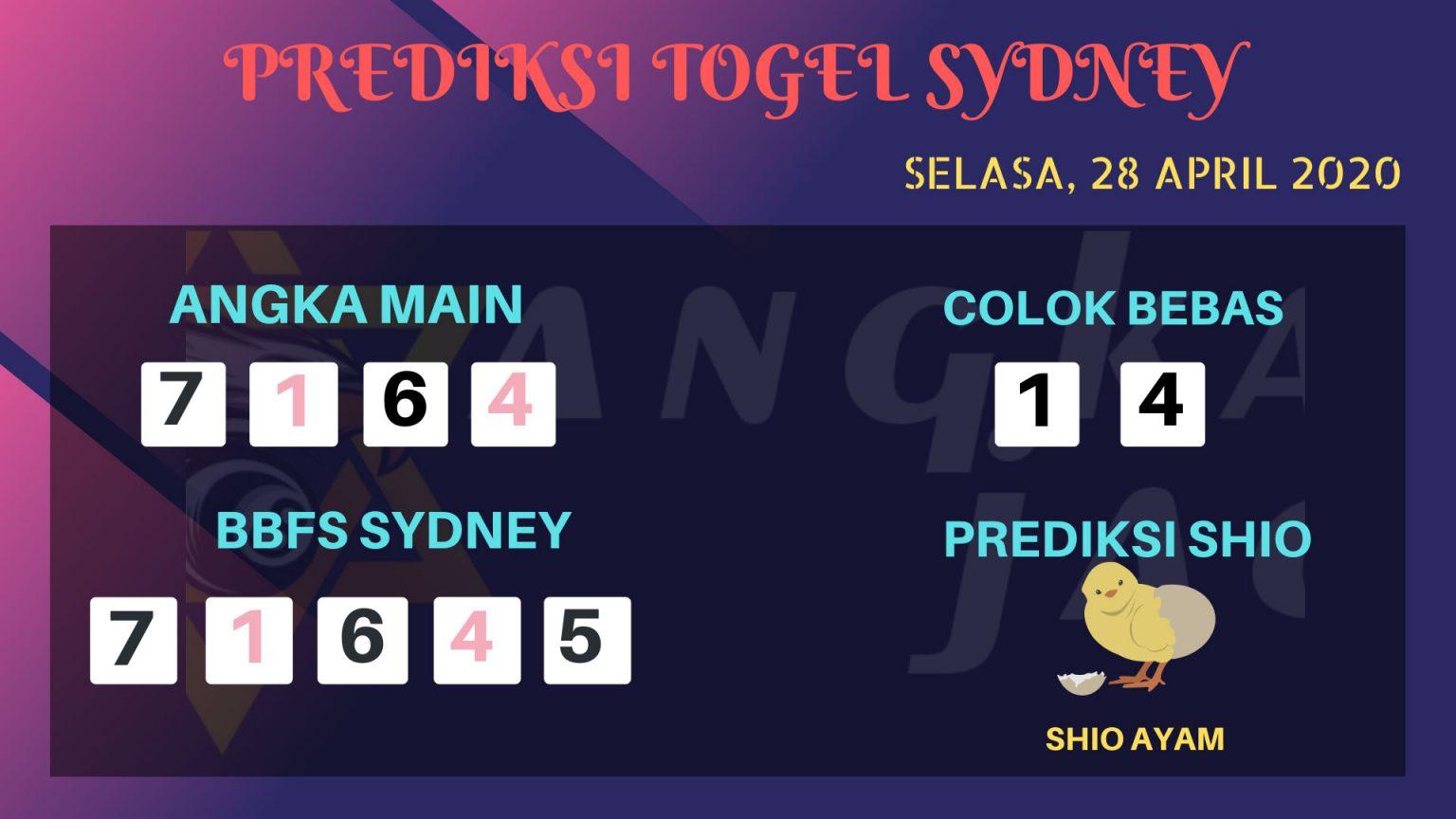 Prediksi Togel Sidney Selasa 28 April 2020 - Prediksi Angka Sidney