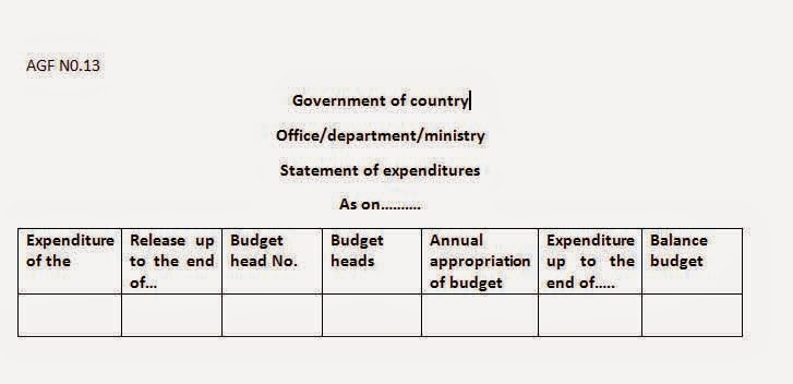 what is accounting expenditure report