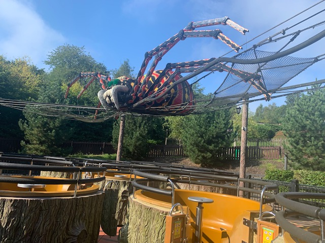 Giant lego spider, at the theme park