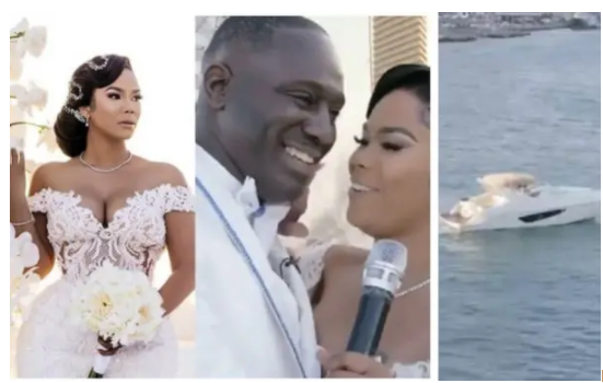 Beautiful! Woman gifts her husband a Yacht at their wedding (Watch video)