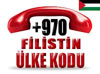 +970 Filistin ülke telefon kodu