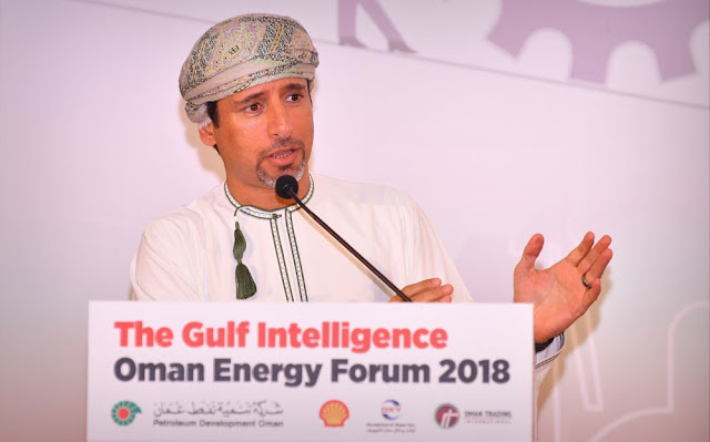 Image Attribute: HE Salim bin Nasser Al Aufi, Undersecretary at the Ministry of Oil and Gas, Sultanate of Oman speaking at The Gulf Intelligence's Oman Energy Forum 2018 / Source: The Gulf Intelligence