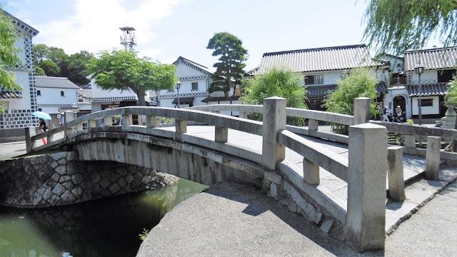 岡山県の倉敷美観地区の橋