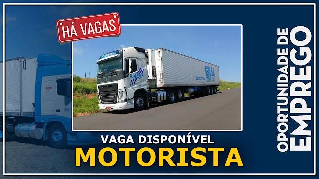 Transportadora Gral  abre vagas para Motorista Carreteiro