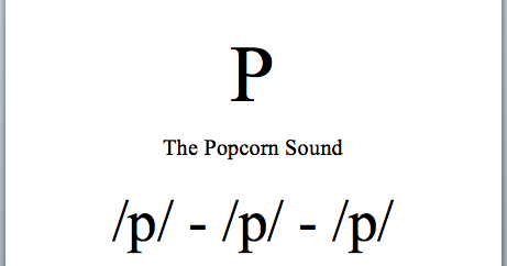 Ms. Ange's Class Blog: 'P' The Popcorn Sound