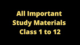 All Important Study Materials Class 1 to 12