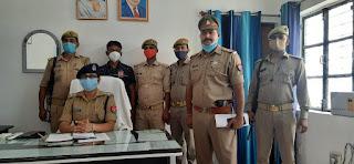 जालौन: माधौगढ़ पुलिस द्वारा इनामियां अभियुक्त गिरफ्तार -पुलिस अधीक्षक जालौन