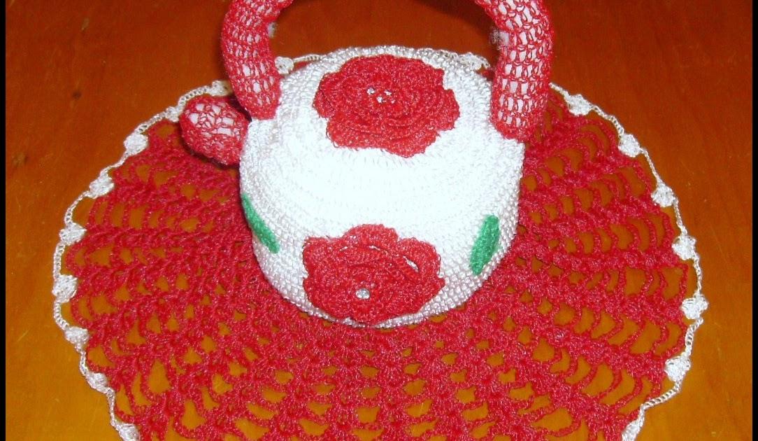 0e4838d6da Tricotando com a Carla  Galinha porta ovos e chaleira de croche