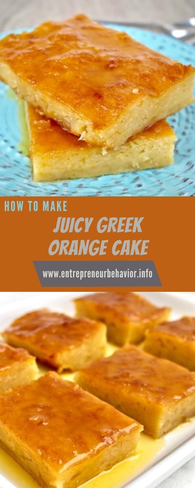 JUICY GREEK ORANGE CAKE