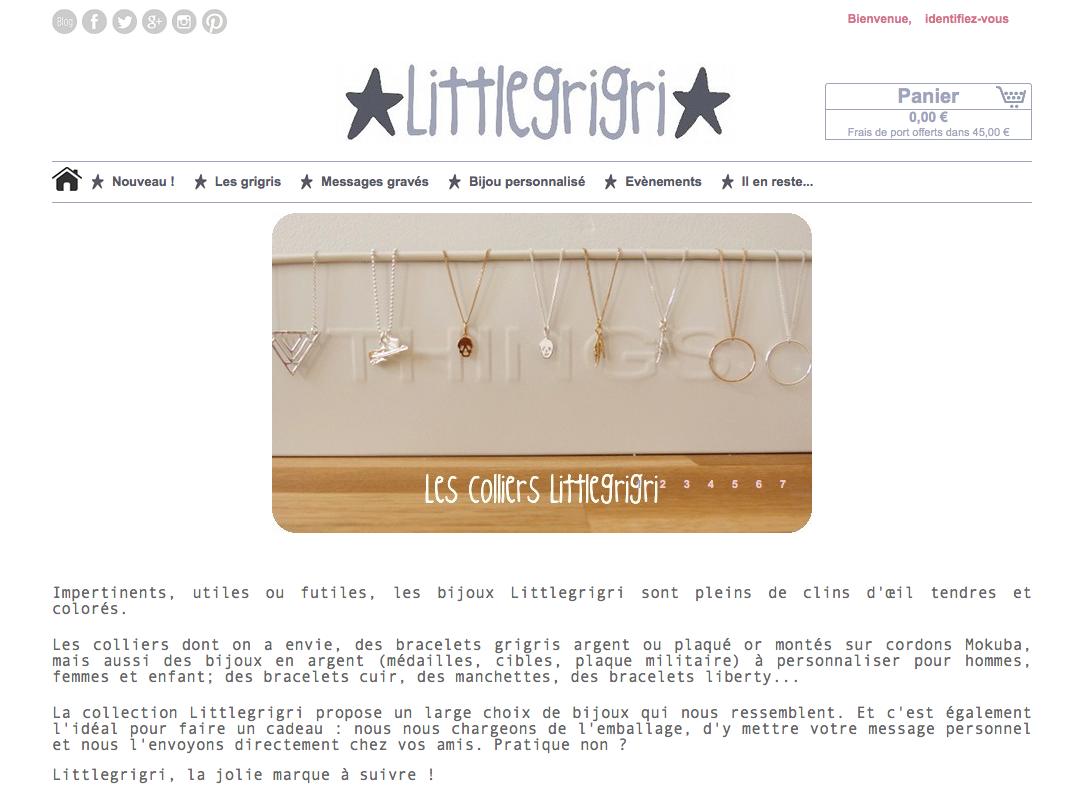 visiter la boutique en ligne littlegrigri.com