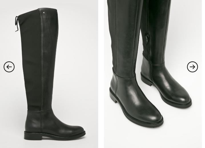 Trussardi Jeans - Cizme dama moderne din piele naturala de firma la reducere