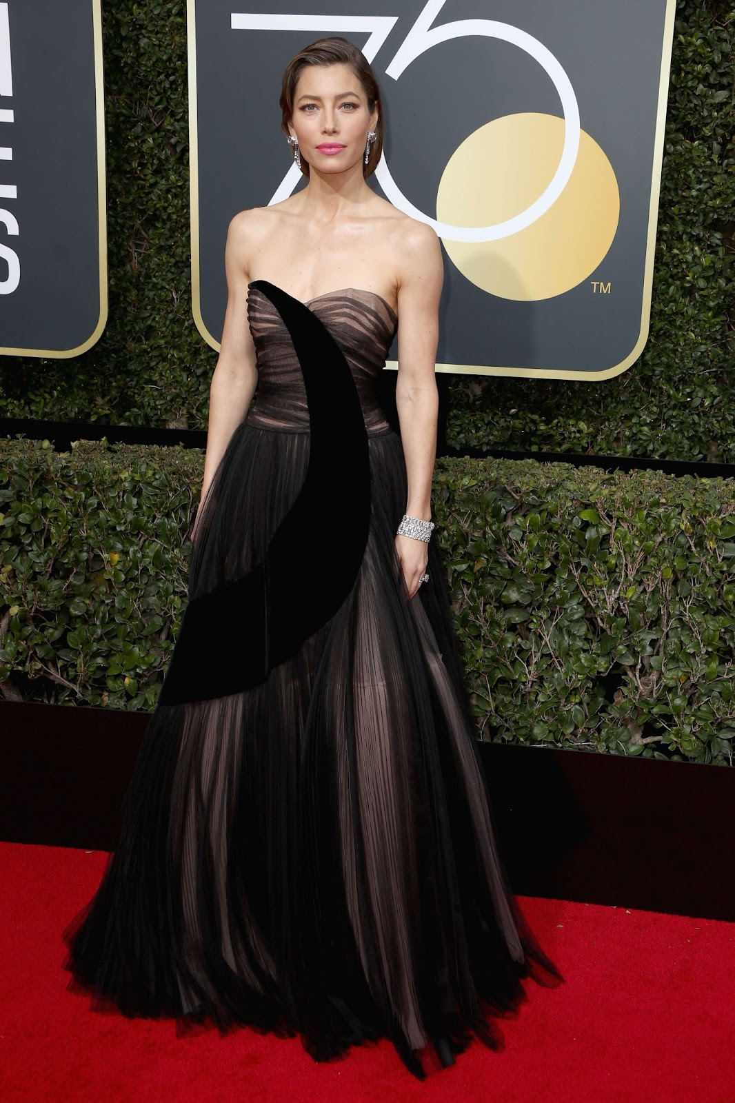 Jessica Biel Dress at Golden Globe Awards 2018