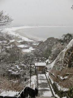 雪の鎌倉成就院