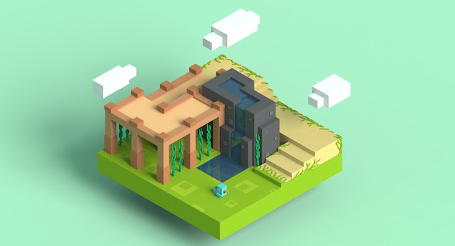Voxel Water Pond
