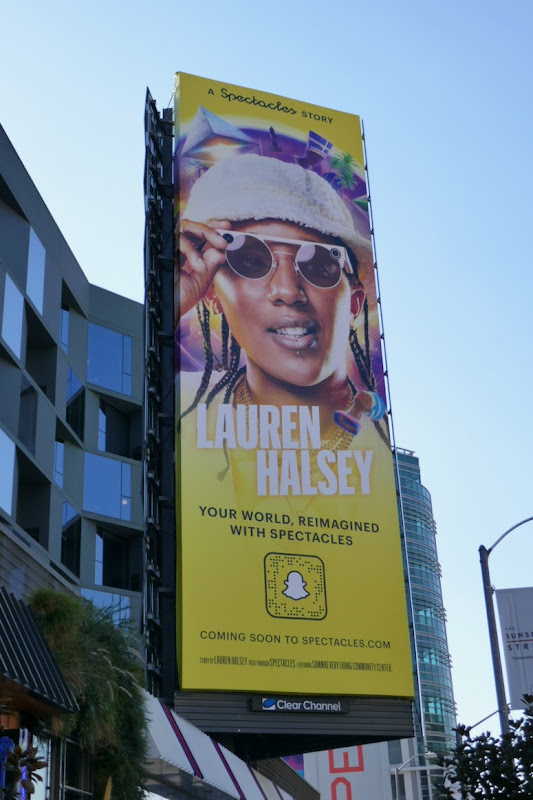 Snapchat Spectacles Lauren Halsey billboard
