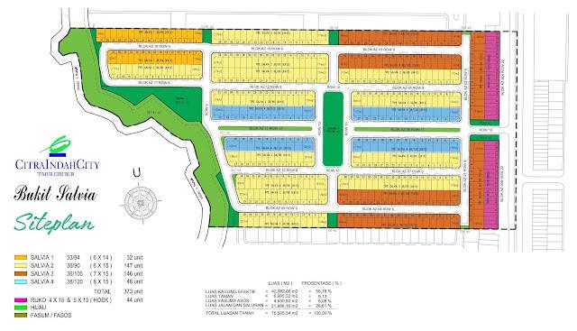 Siteplan Bukit SALVIA Citra Indah City