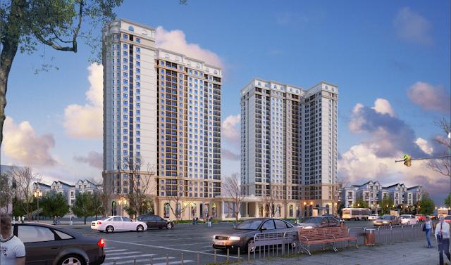 Phối cảnh chung cư cao tầng tại phân khu Athens