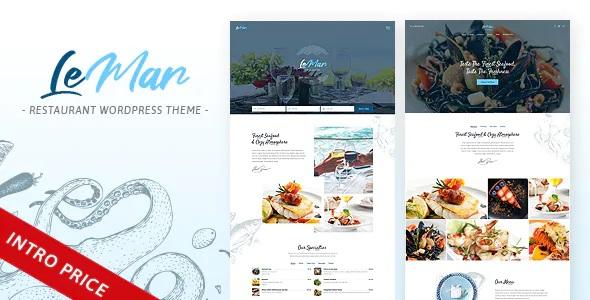 Best Seafood Restaurant WordPress Theme