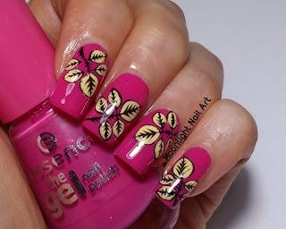 FReverse Stamping nail art