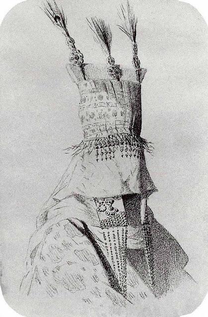 Василий Васильевич Верещагин - Наряд киргизки-невесты с головным убором, закрывающим лицо. 1869-1870