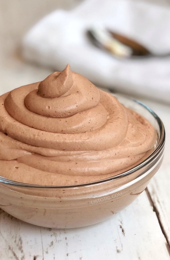 Easy Keto Chocolate Frosty #healthy #recipe
