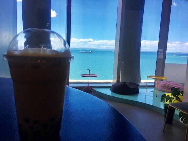 Bubble Tea at Double Ma Tea SM Seaside 2F SM Seaside Cebu Cube Wing