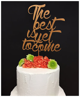the best is yet to be wood cake topper juniper and ivy