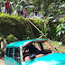 Tak Kuat Nanjak, Mobil Berpenumpang 6 Orang Masuk Kolam