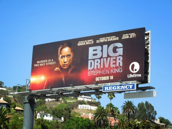 Big Driver Lifetime TV movie billboard