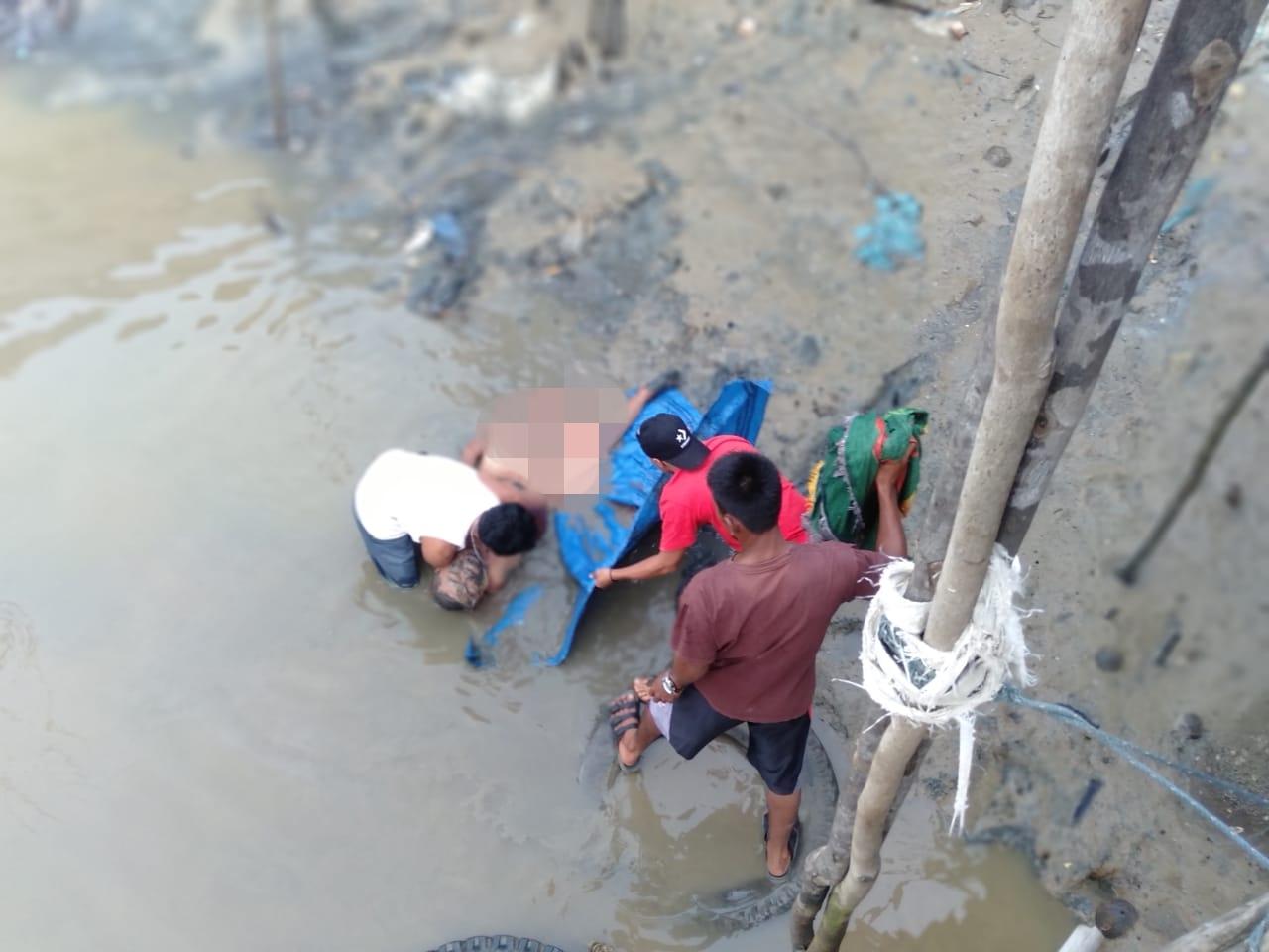 Breaking News !! Warga Lambur Luar Temukan Mayat Penuh Luka di Sungai