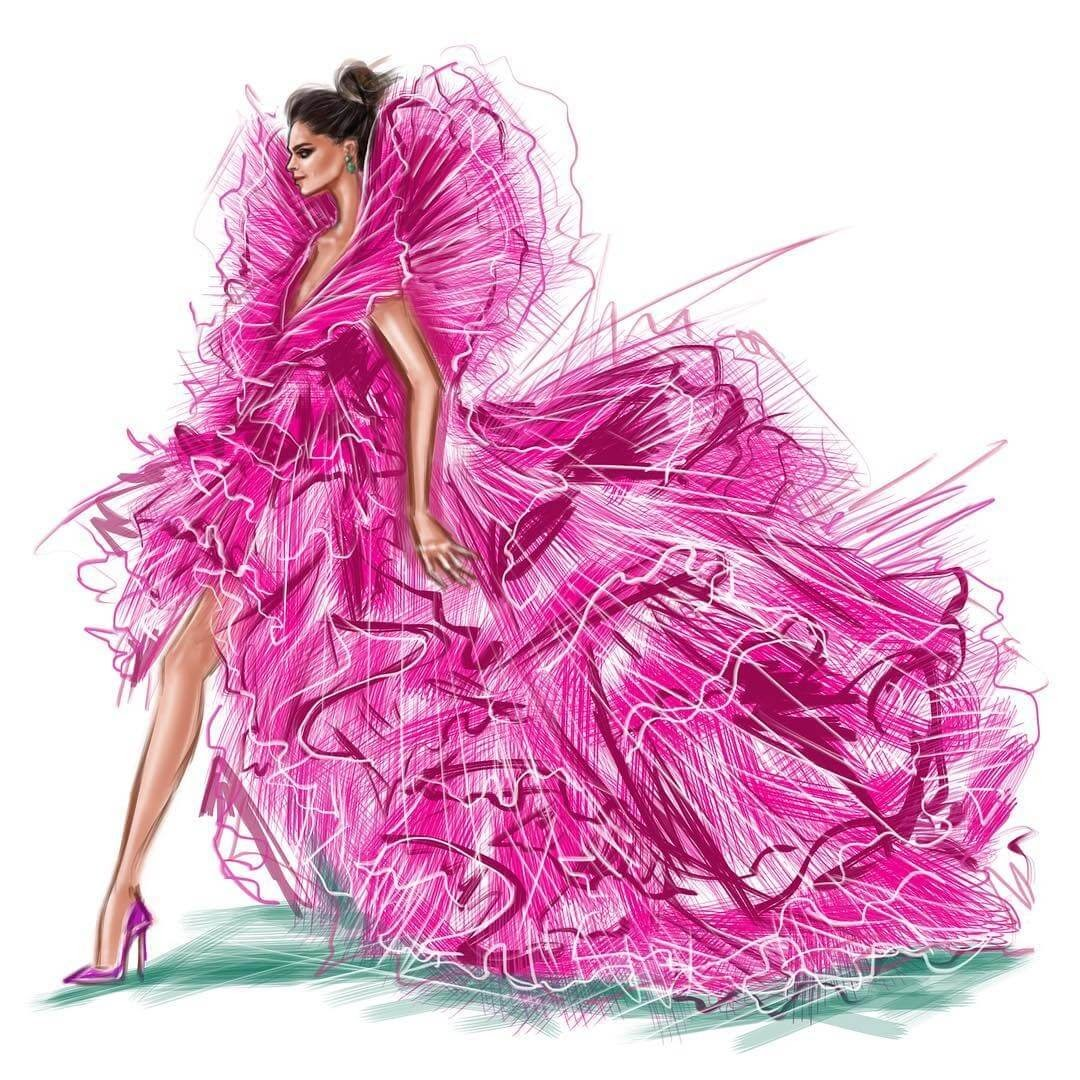 12-Deepika-Padukone-Shamekh-Bluwi-Haute-Couture-Exquisite-Fashion-Drawings-www-designstack-co