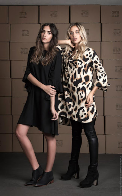 Moda invierno 2016 mujer. Wupper Jeans otoño invierno 2016 vestidos y blusas de moda 2016.