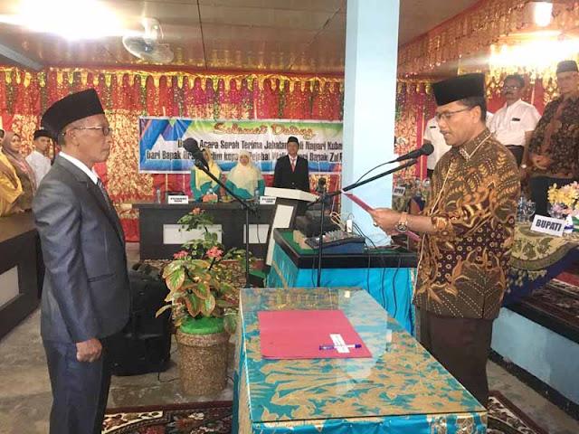 Irfendi Lantik Pejabat Wali Nagari Kubang