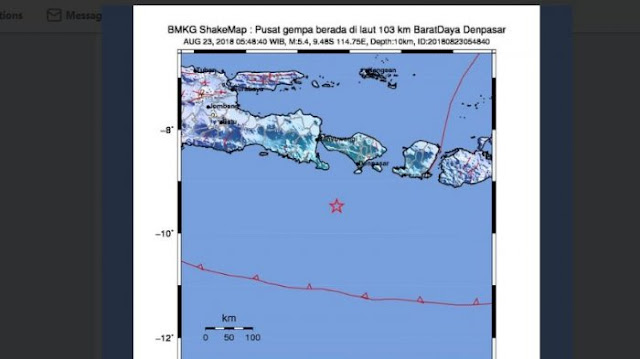 Pagi Ini, Bali Diguncang Gempa 5,4 SR