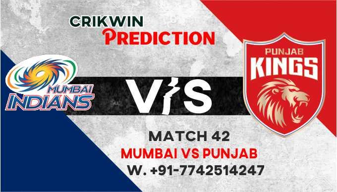 Punjab vs Mumbai IPL T20 42nd Match Today 100% Match Prediction Who will win - Cricfrog