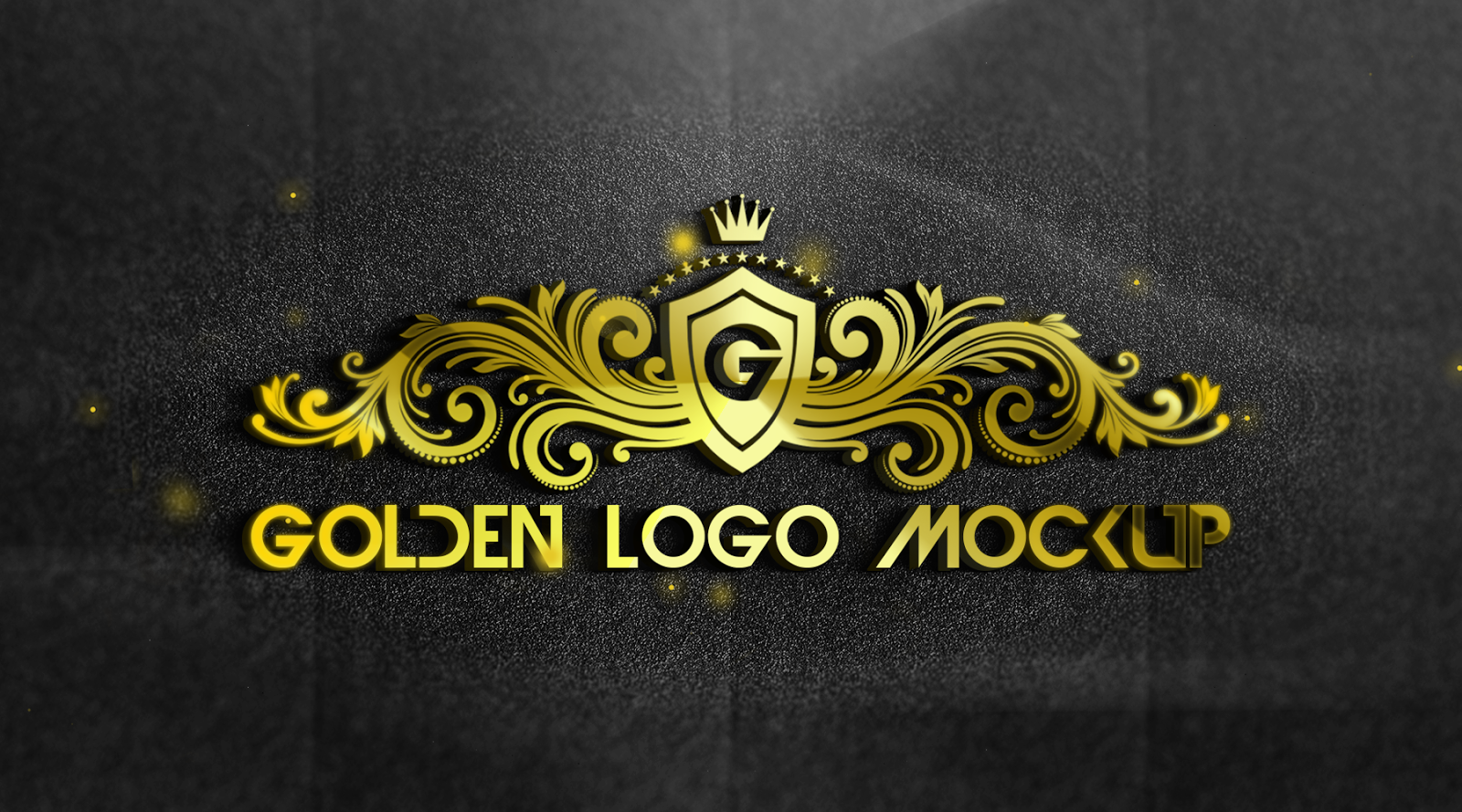 Share 2 PSD Realistic 3D Mock-up (Golden)