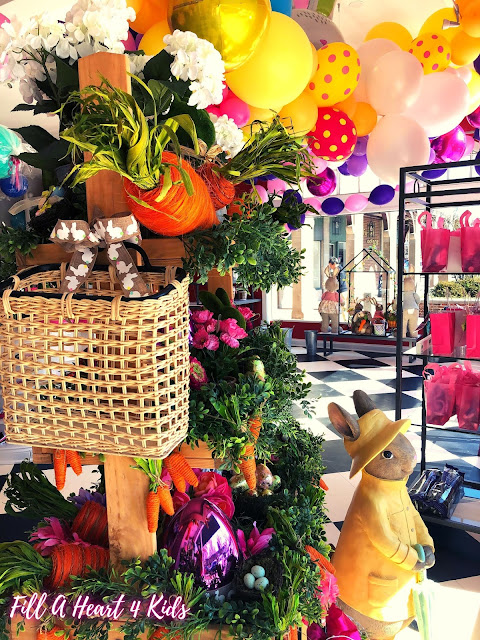 Perfectly spring decorations at Fill A Heart 4 Kids create  a magical childhood setting for helping others!
