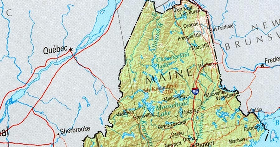 Online Maps New England States Map