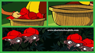 The Monkey and The Cap Seller - Short Story for Kids