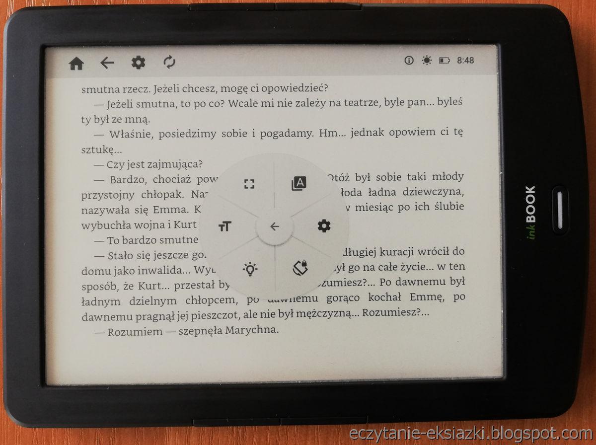 InkBOOK LUMOS – tryb poziomy w aplikacji PocketBook Reader