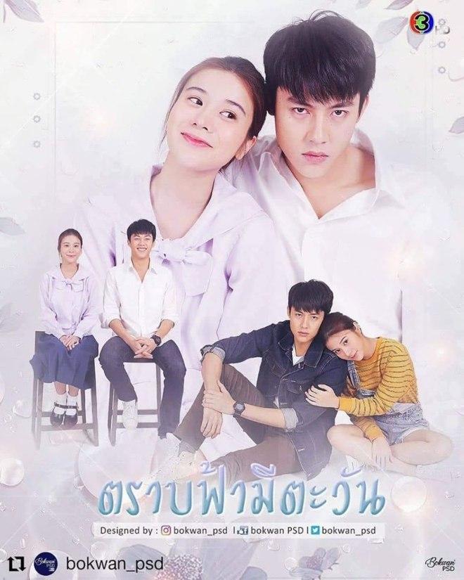 Trab Fah Mee Tawan thai drama Poster