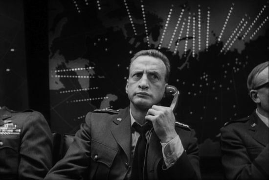 George C. Scott on the telephone in Dr Strangelove