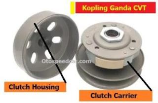 komponen cvt motor matic dan fungsinya
