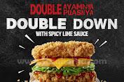 KFC Promo Menu Baru DOUBLE DOWN With Spicy Lime Sauce Harga Mulai Rp.36.364